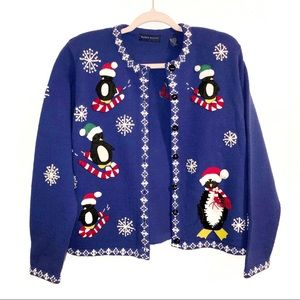 """Ugly"" Cute Christmas 🎄 Penguin 🐧 Sweater Medium"